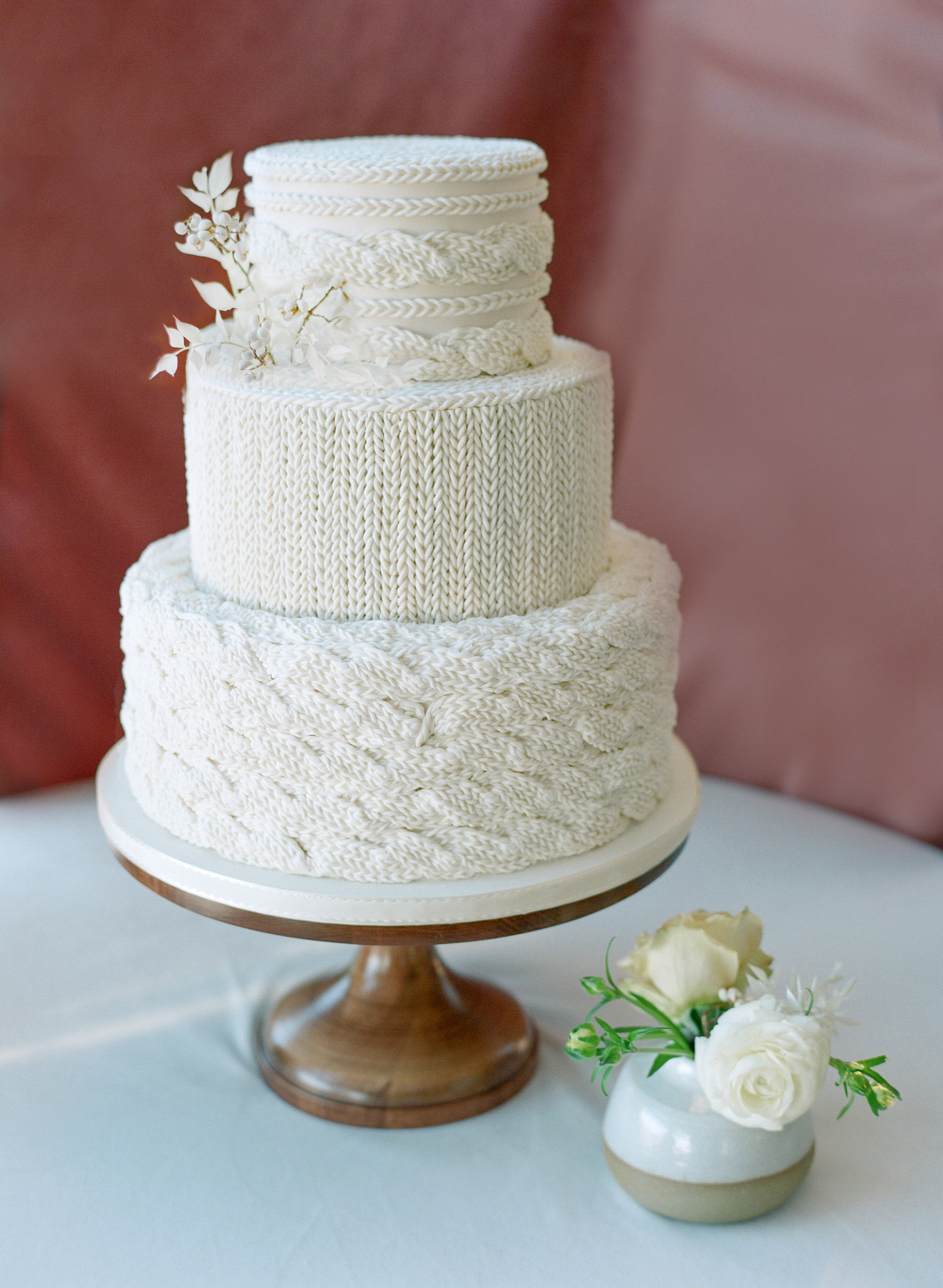Cozy Knitted Cake