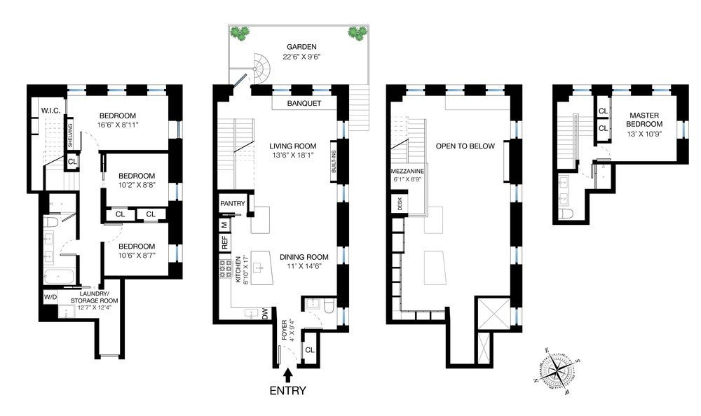 303 Mercer B102 Floor Plan