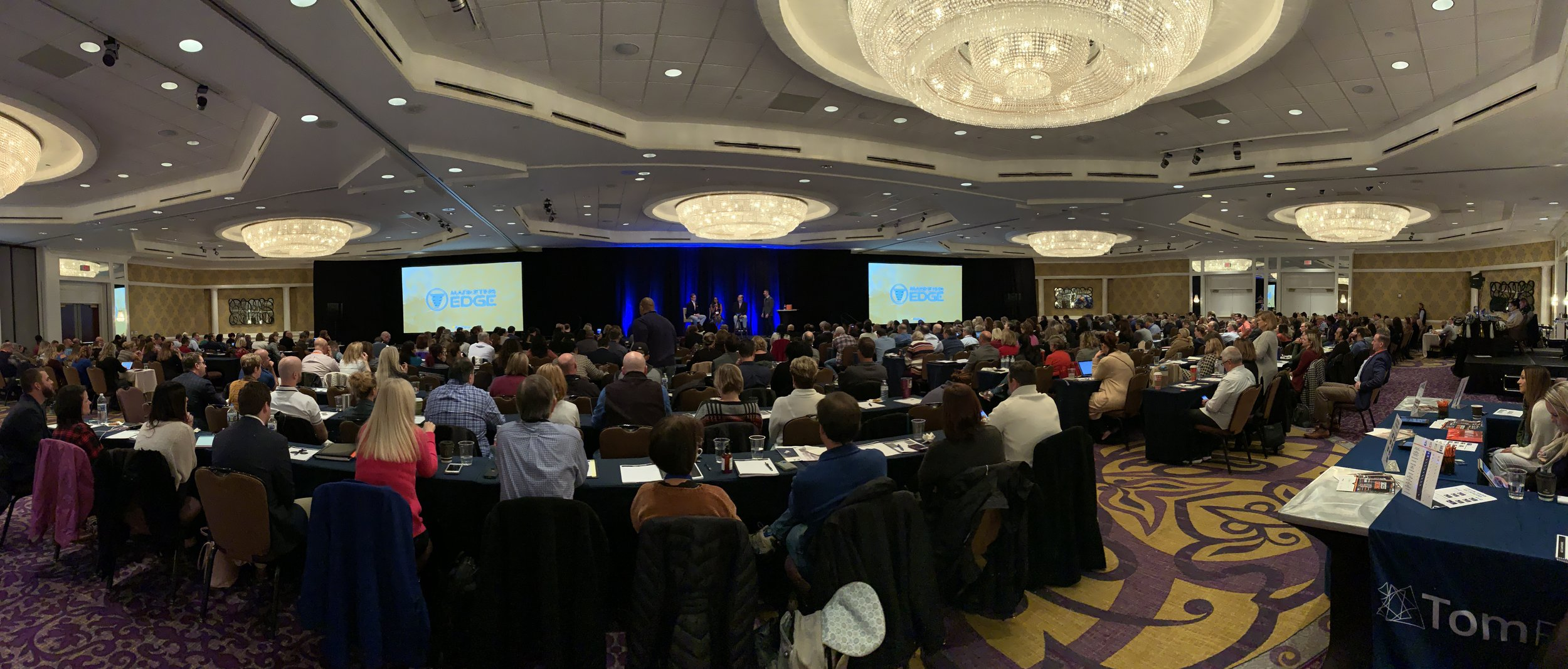 A packed crowd on Day 2 of the Marketing Edge conference.