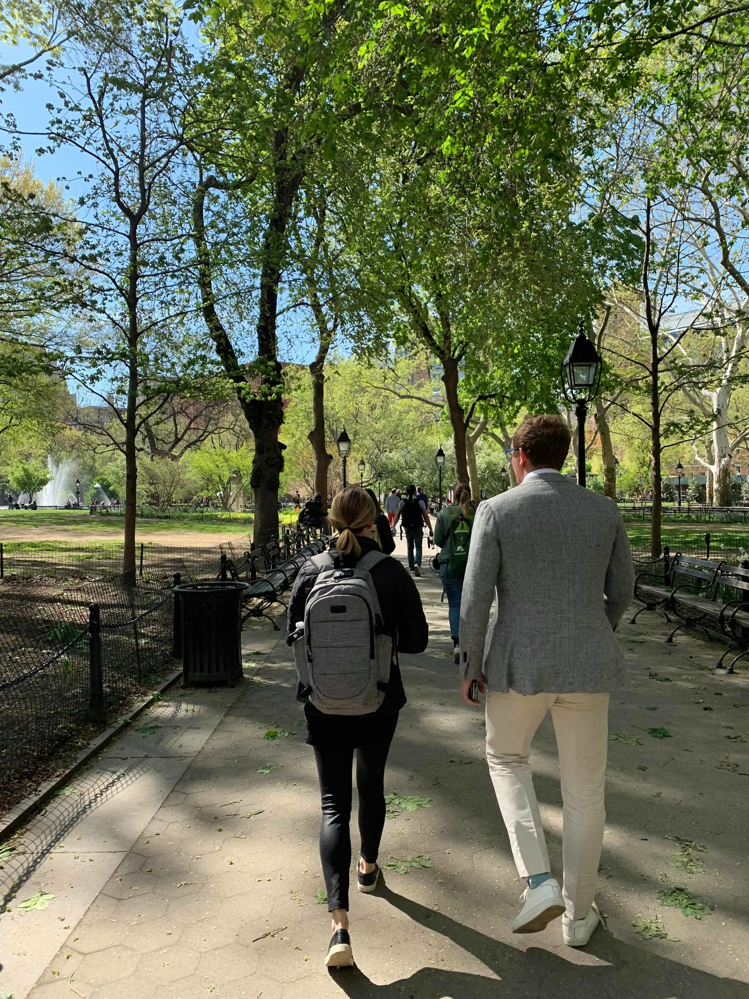Not much better than a stroll through Washington Square Park on a nice Spring day!