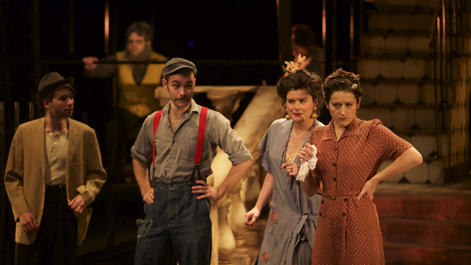 Sam Jackson (George Jones), Edwin Kaye (Carl Olsen), Sarah Foubert (Greta Fiorentino) & Joanna Harries (Emma Jones) 399.jpg
