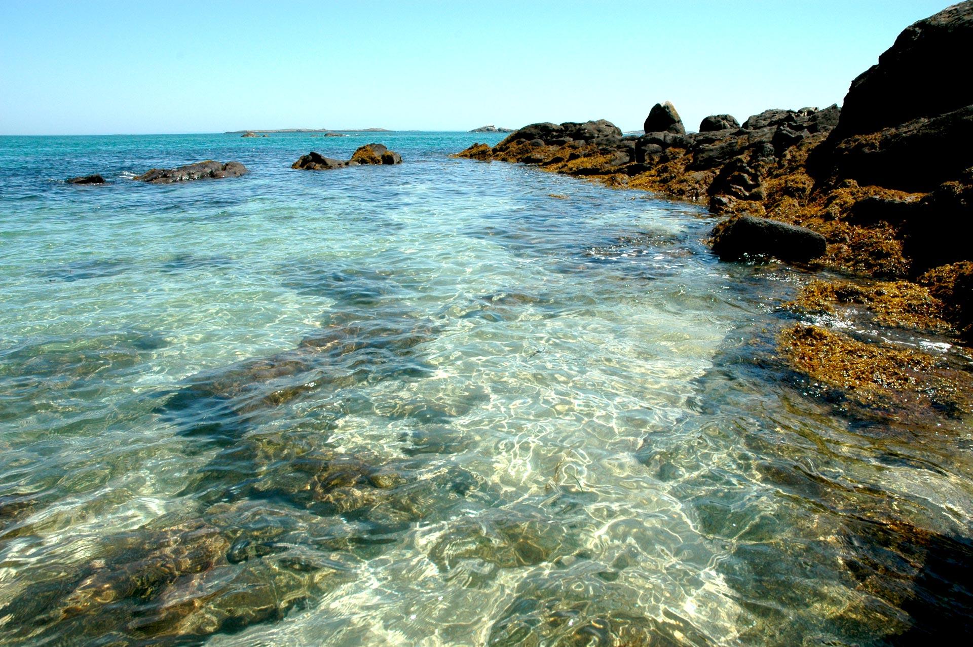 Les eaux turquoises de Chausey