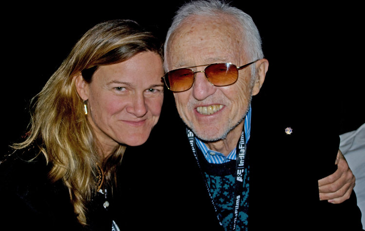 Ellen Kuras and Haskell Wexler at 2008 Woodstock Film Festival. Photo by Veronica O'Keefe