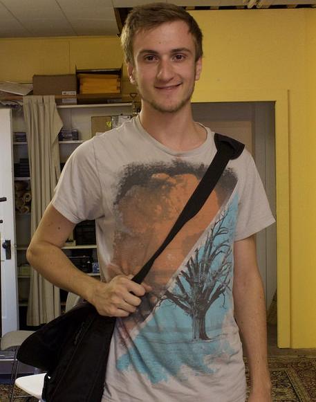 Former intern (now staffer) Evan Thomas