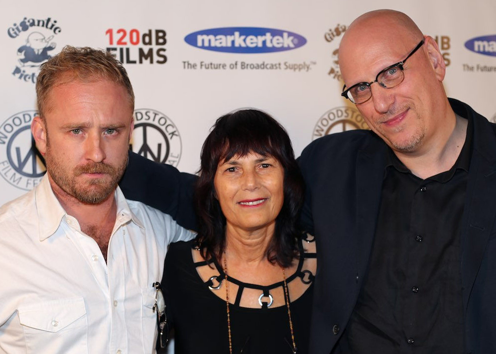 Ben Foster, Meira Blaustein and Oren Moverman at 2016 Woodstock Film Festival Maverick Awards