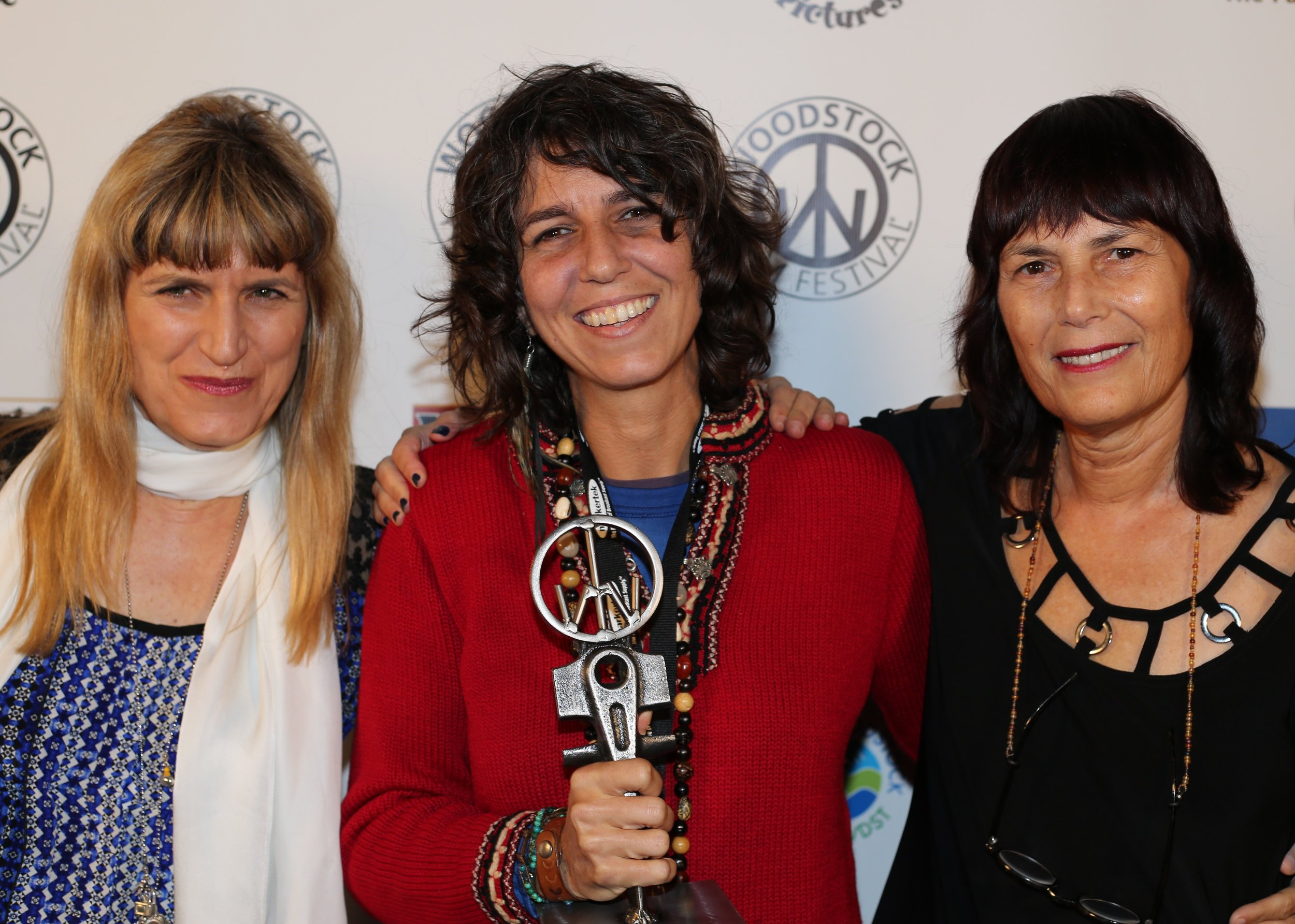 Play the Devil  director and Tangerine Juice Award for Best Female Director winner  Maria Govan   flanked by  Twilight  director  Catherine Hardwicke  and WFF executive director  Meira Blaustein