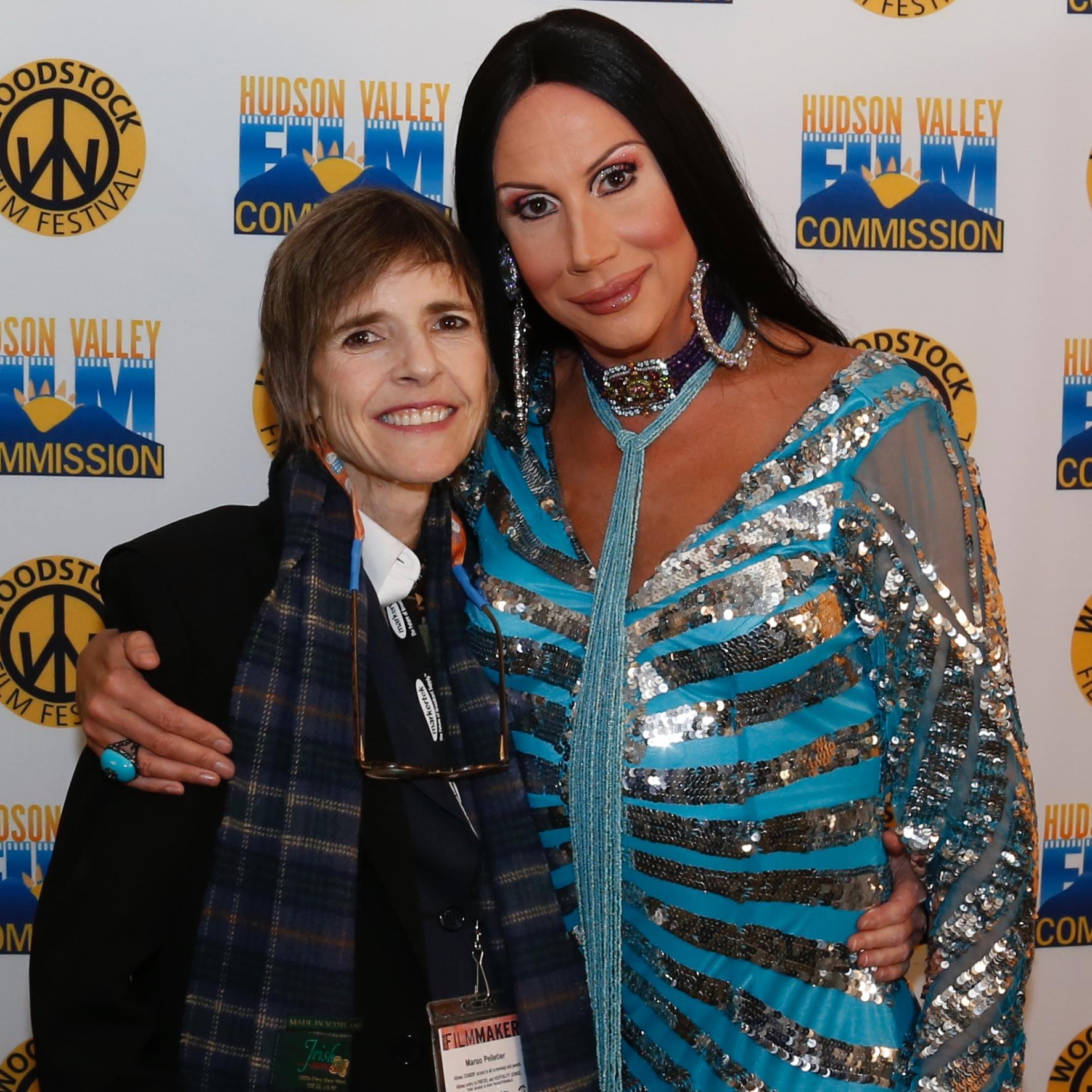Director  Margo Pelletier (Thirsty)  with star  Thirsty Burlington