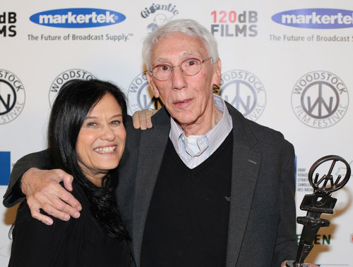 Barbara Kopple  at the 2016 Woodstock Film Festival with director and Lifetime Achievement Award recipient   Leon Gast