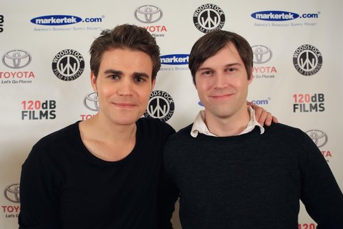 Shawn Christensen   (right) with   Paul Wesley    at the 2014 Woodstock Film Festival.