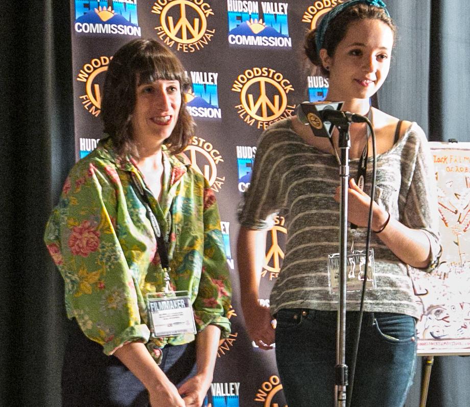 Eliza Hittman (L) holding a Q&A for her film IT FELT LIKE LOVE at the 2013 Woodstock Film Festival