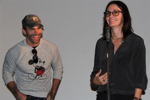 Seann William Scott and Courteney Cox at the 2014 Woodstock Film Festival