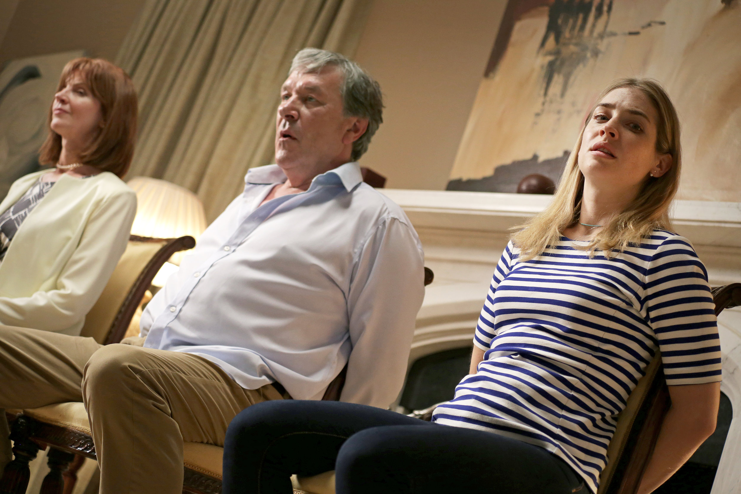 Carolyn Backhouse, Tim Bentinck and Sophie Colquhoun, in Us and Them, directed by Joe Martin