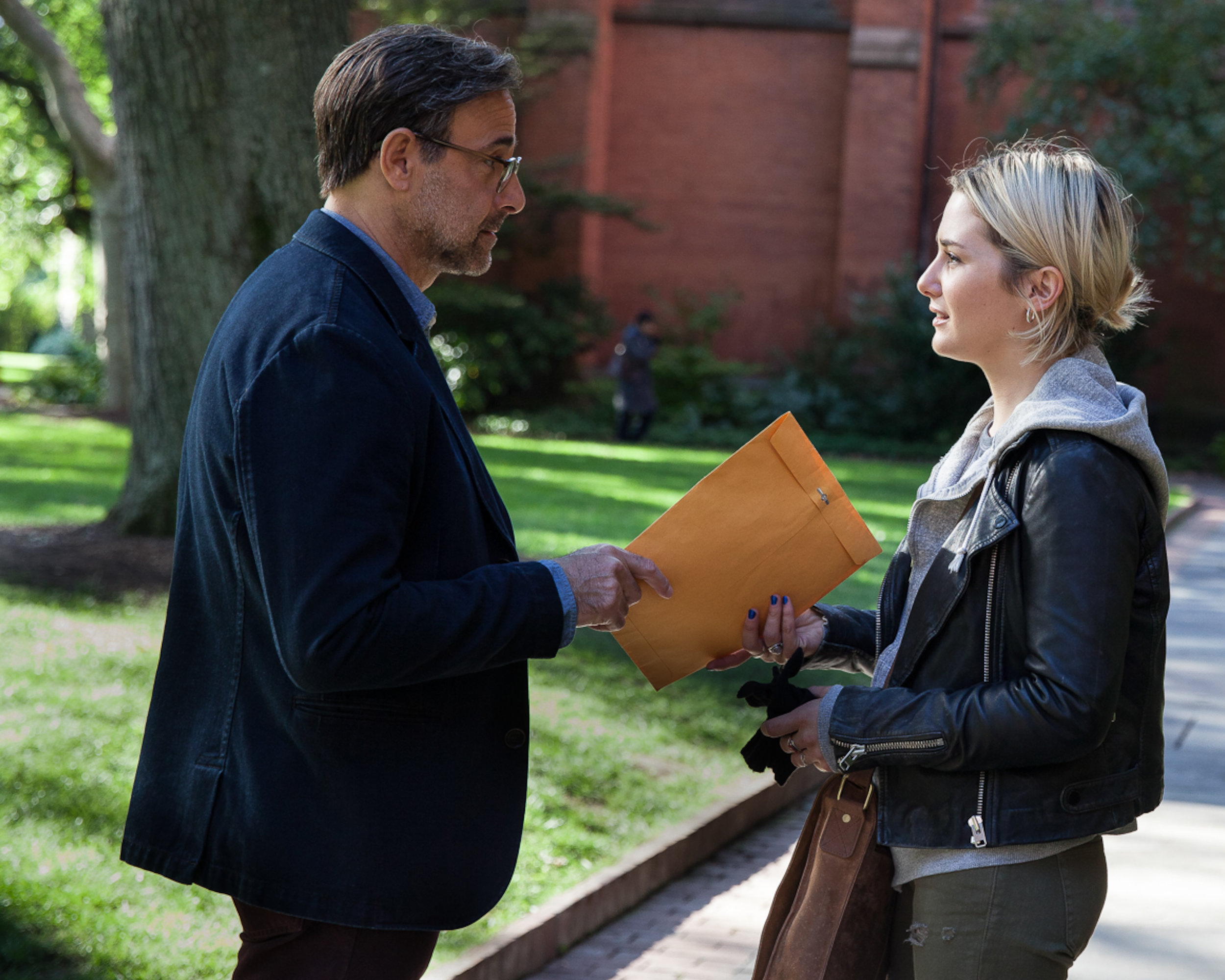 Stanley Tucci and Addison Timlin,in Submission, directed by Richard Levin