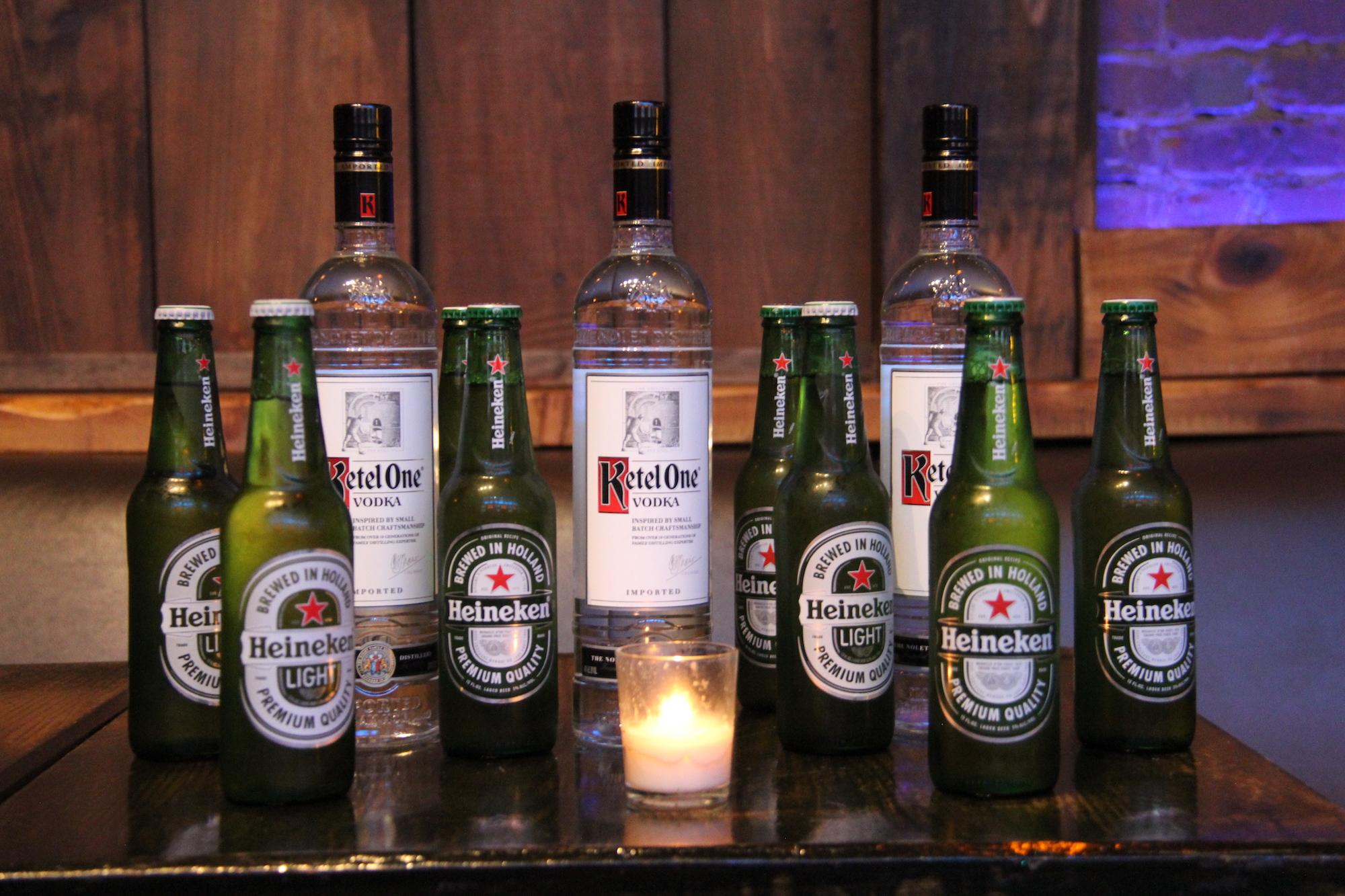 Sponsors Ketle One and Heineken