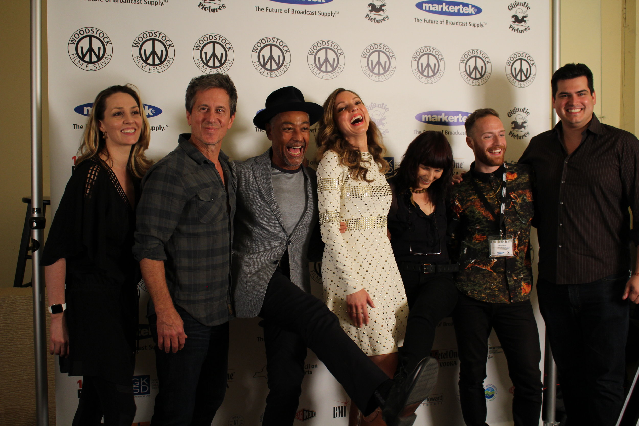 Michael Berry, Giancarlo Esposito, Sarah Joy Miller, Meira Blaustein and Tim Young2017 Woodstock Film Festival kickoff night performance