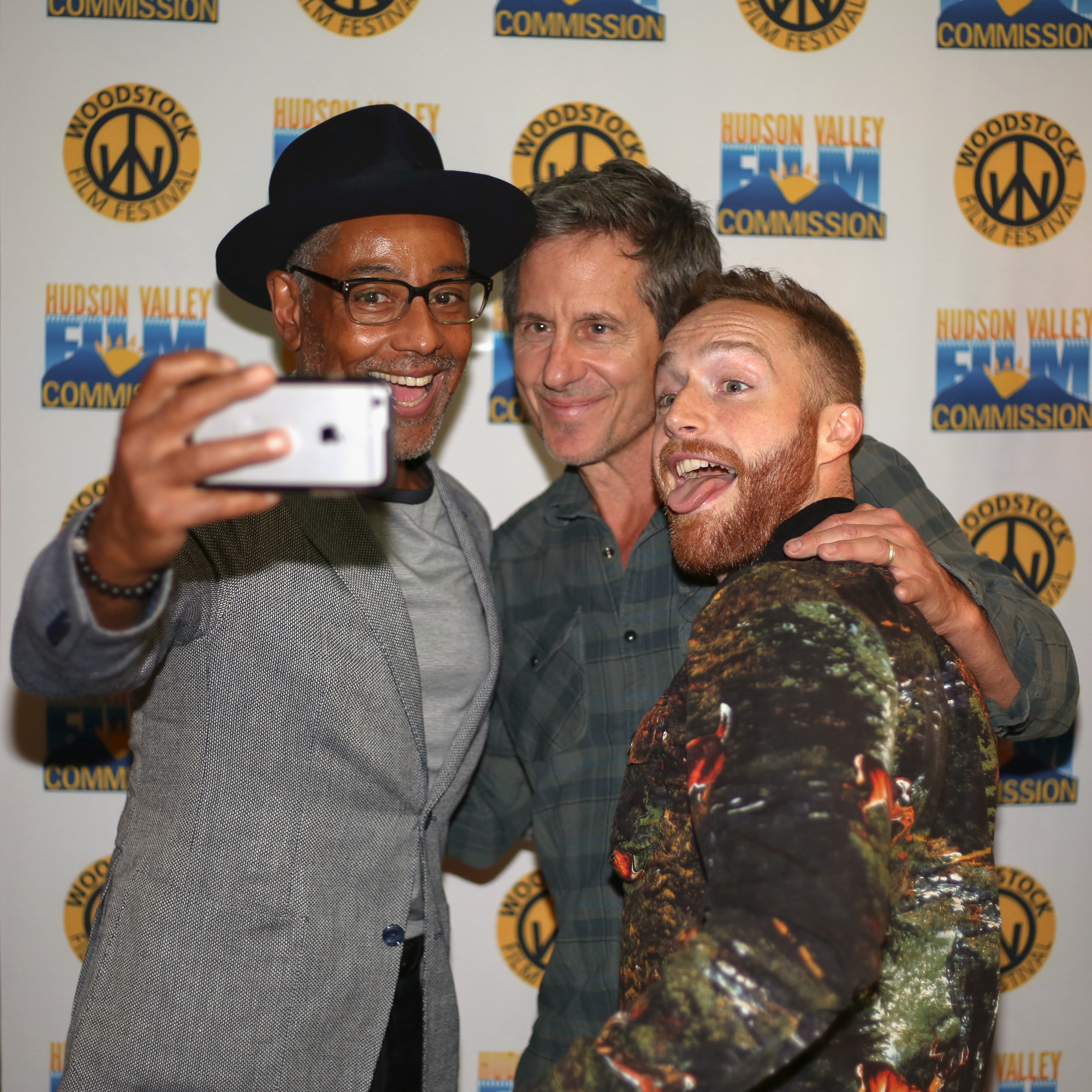Giancarlo Esposito, Michael Berry and Tim Young at the kick off party screening of STUCK at the 2017 Woodstock Film Festival