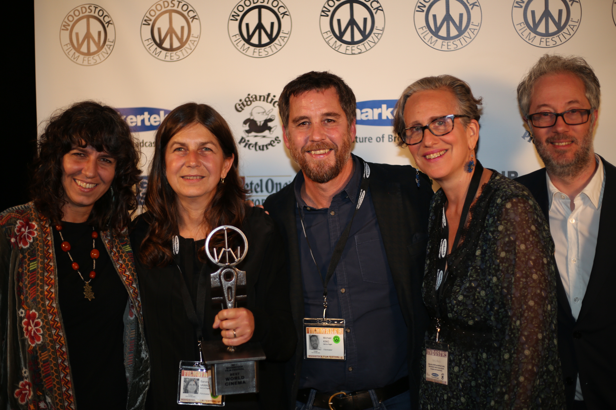 Maria Govin, Sandra Vannuchi, Michael King, Emily Russo, and Claude dal Farra. GIRL IN FLIGHT won the World Cinema Award