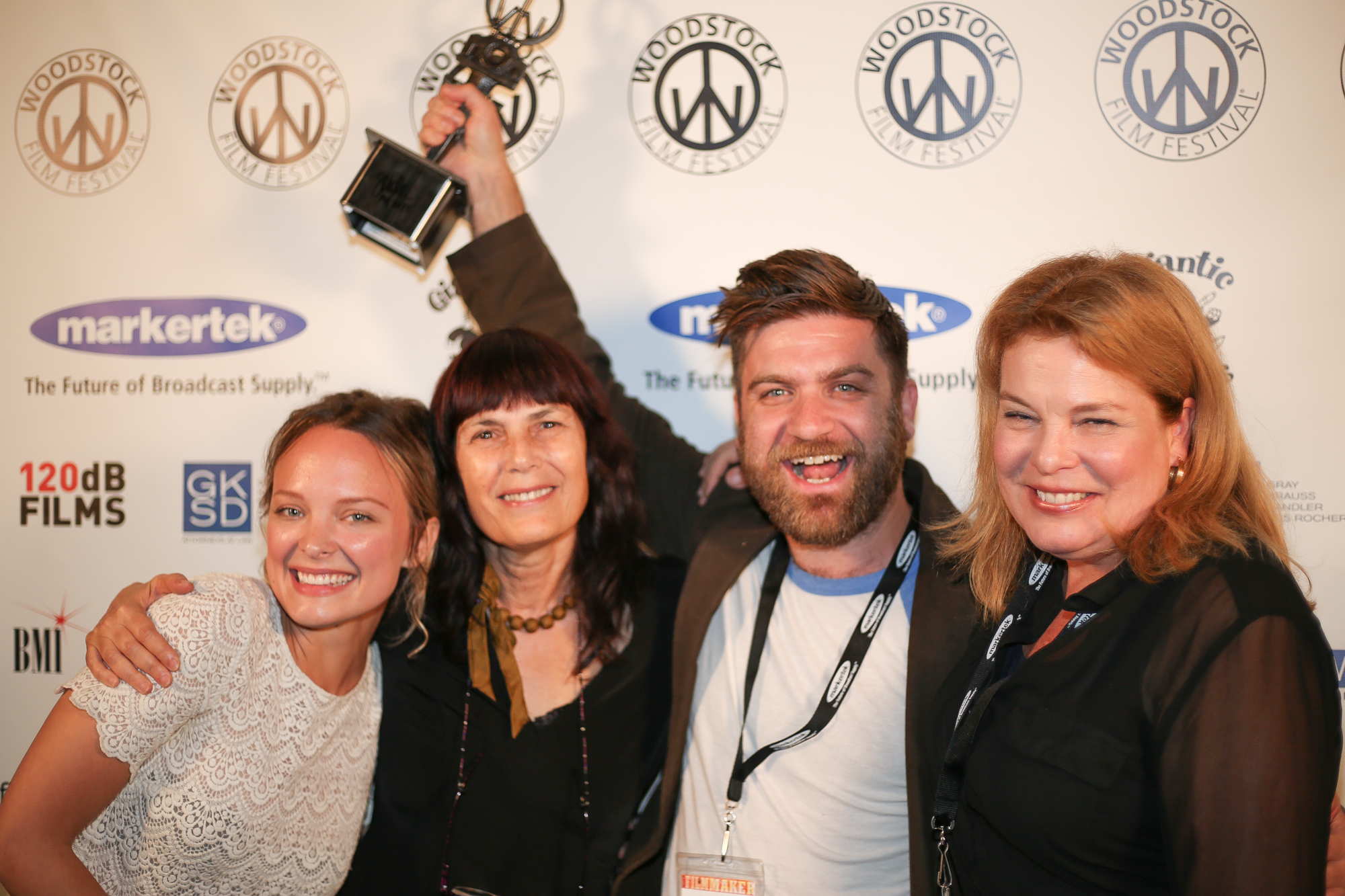Auden Thornton, Meira Blaustein, Harris Doran, and Catherin Curtin, BEAUTY MARK won the Ultra Indie Award