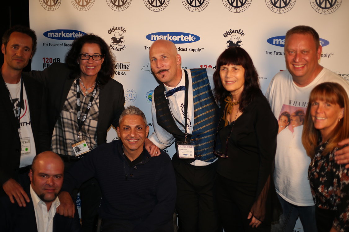 Crew members and subject from ROLL WITH ME receive the Carpe Diem Andretta Award with Meira Blaustein and Lauri Andretta