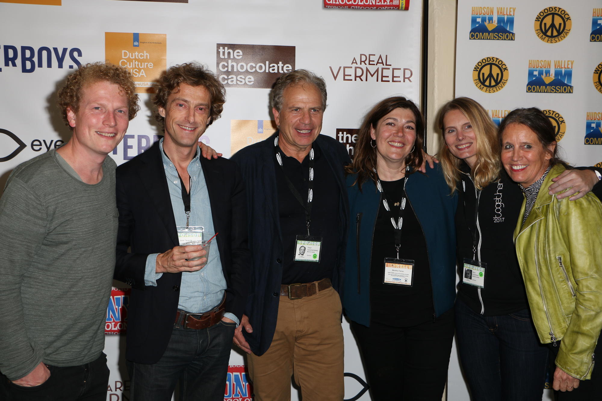 The Dutch team, including Benthe Forrer (The Chocolate Case), at the 2017 Woodstock Film Festival Filmmaker Party sponsored by Dutch Culture USA. Photo by: Eugene Devillamil