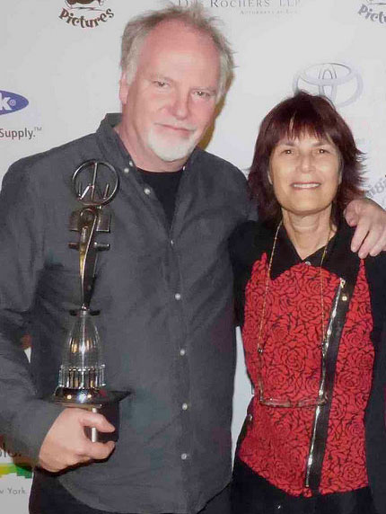 Guy Maddin with Woodstock Film Festival executive director Meira Blaustein