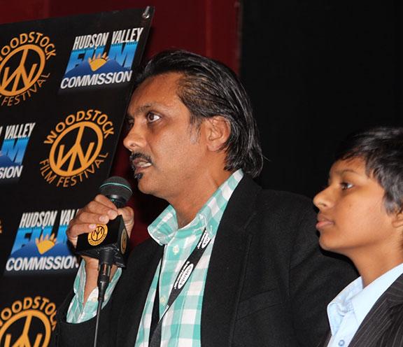 Producer Anjul Nigam  with co-star Roni Akurati