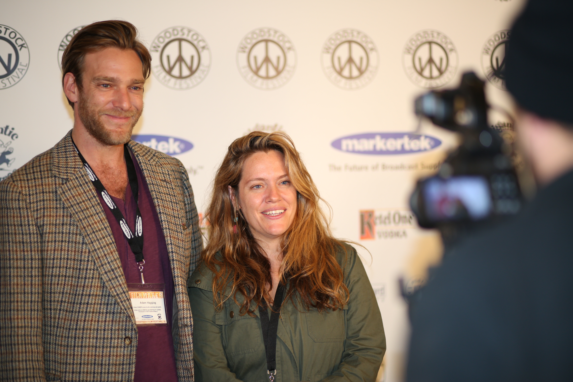 Bombshell: The Hedy Lamarr Story  producer Adam Haggiag and director Alexandra Dean at the 2017 Woodstock Film Festival.