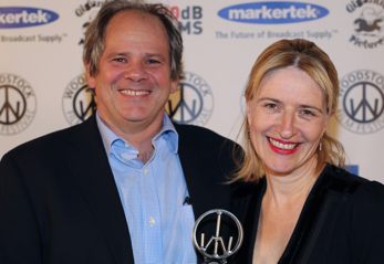 Sabine Hoffman presenting an award at 17th Woodstock Film Festival