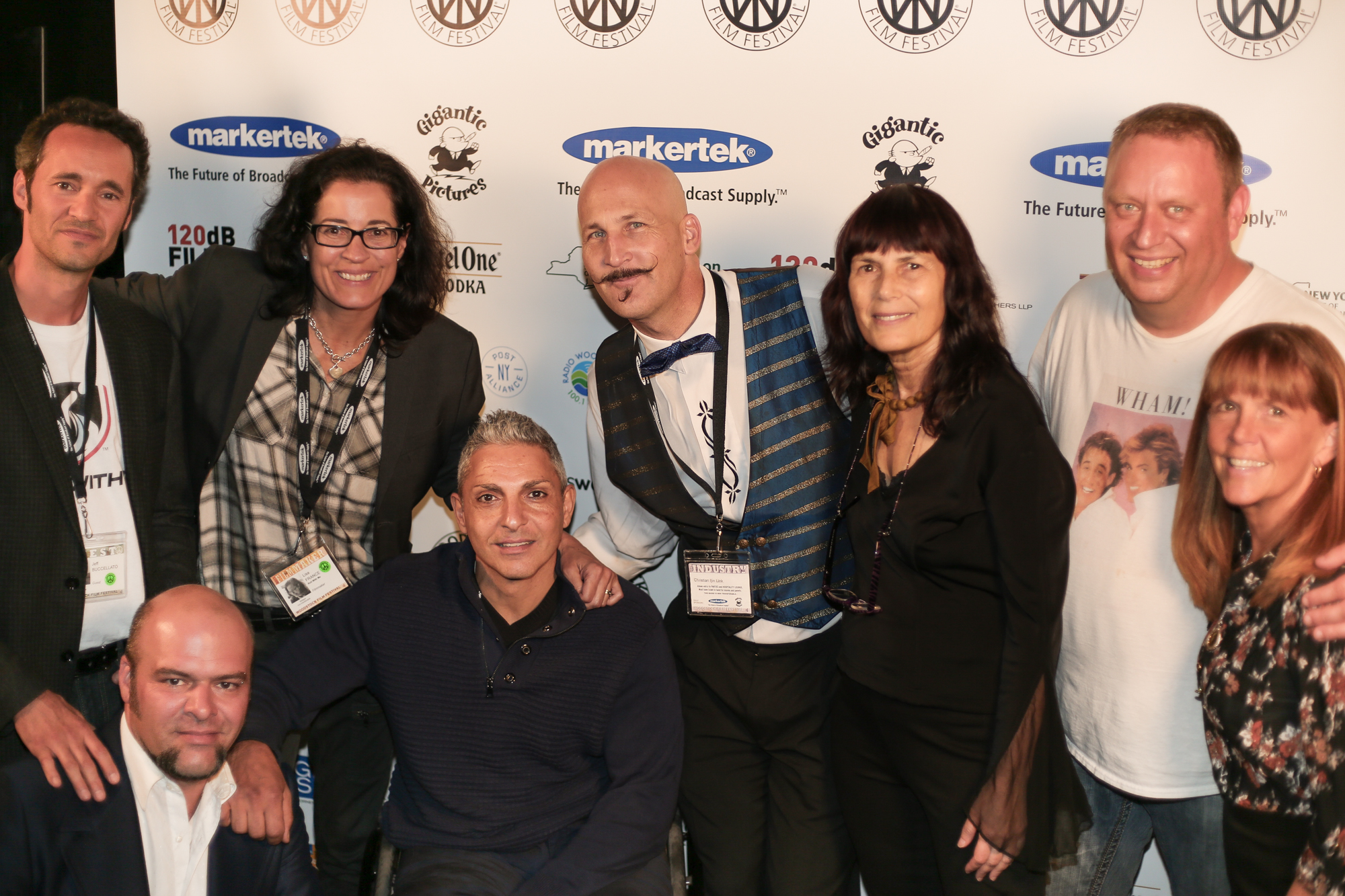 Crew and subject of ROLL WITH ME with Woodstock Film Festival Executive Director Meira Blaustein and Board President Lauri Andretta