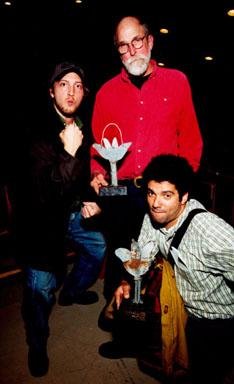 Alex Rubin (producer), Les Blank & Kevin Fitzgerald pose with their Mavericks