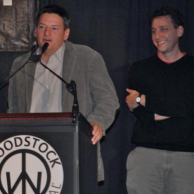 Ted Sarandos, receiving the Trailblazer Award 2007 Woodstock Film Festival