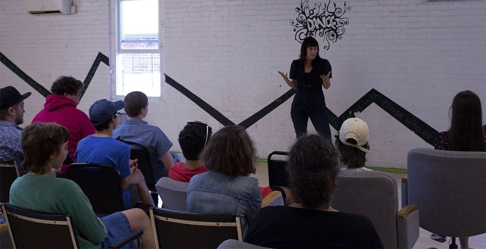 Meira Blaustein welcomes the students and instructors.jpg