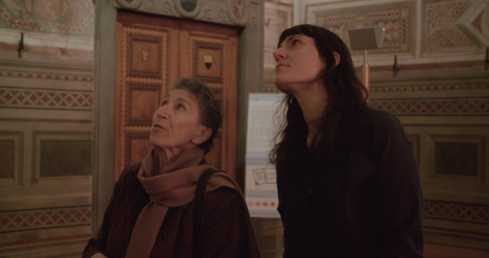 Silvia Federici & director Astra Taylor in What Is Democracy?