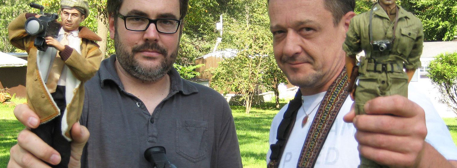 Director Jeff Malmberg and Mark Hogancamp during the making of MARWENCOL
