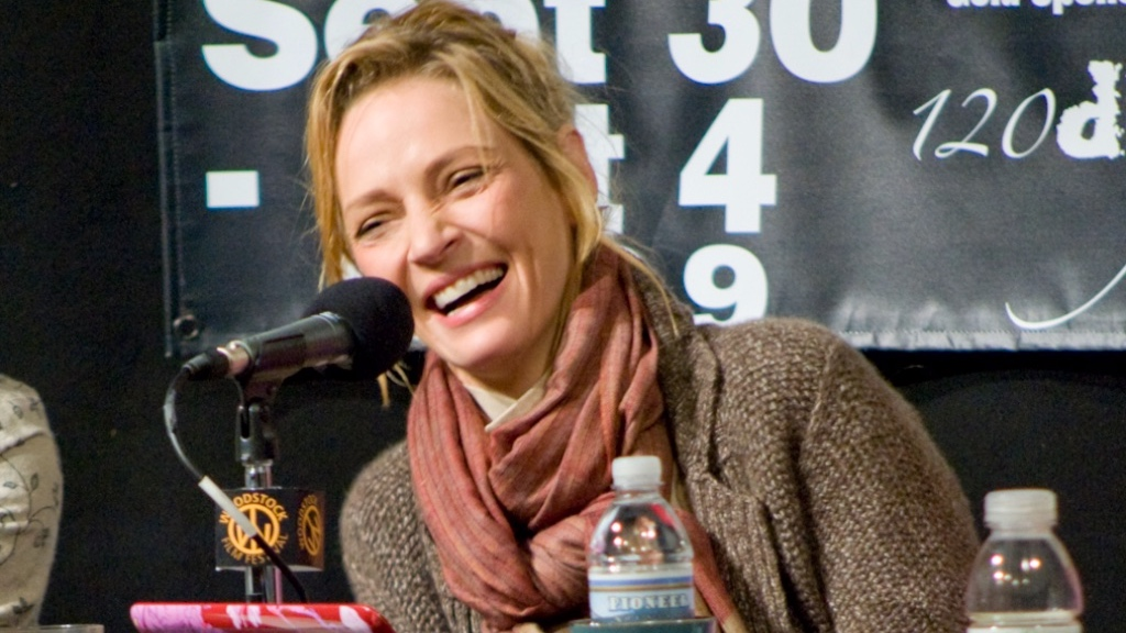 Uma Thurman at the Amazing Women in Film Panel at the 2009 Woodstock Film Festival.