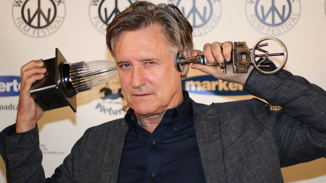 Bill Pullman receives the Excellent in Acting Award at the 2017 Woodstock Film Festival.