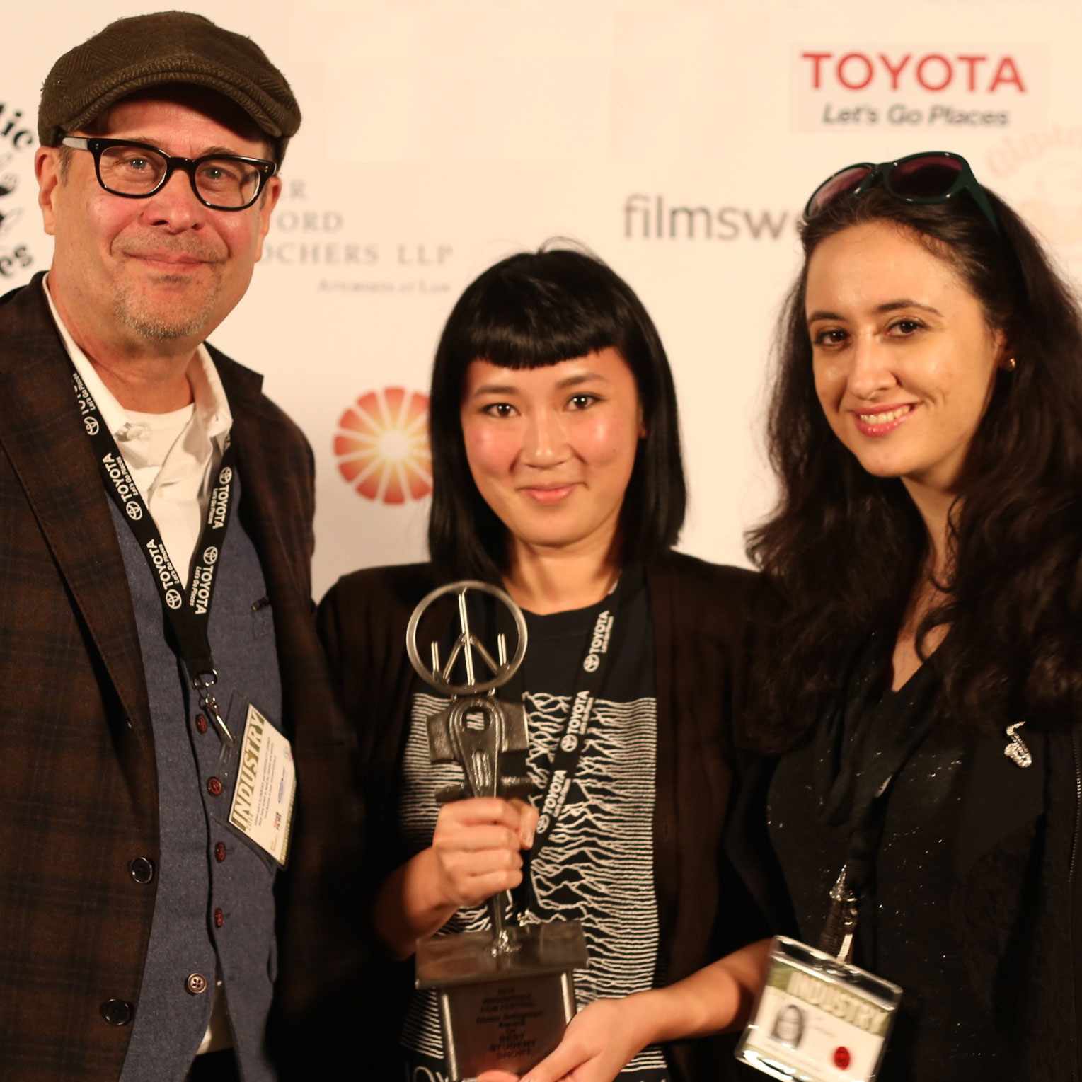 Terry Kinney, Kate Tsang, and Isil Bagdadi at 2014 WFF. Photo: Silvia Forni