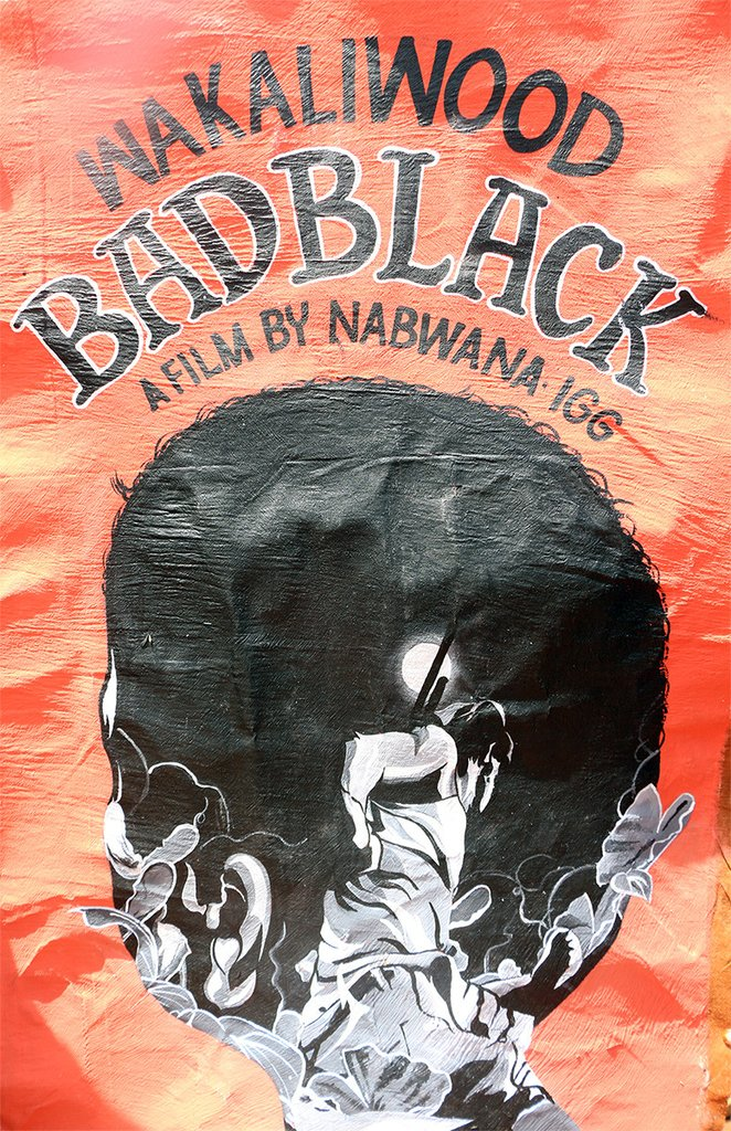 Handpainted poster for BAD BLACK