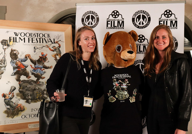 Lauren Belfer and Suzannah Herbert, directors of Wrestle at the 2018 Woodstock Film Festival. Photo by Isabell Lawkins