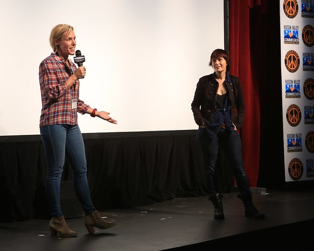 Director Jenna Ricker at Q&A after World Premiere of THE AMERICAN SIDE by Jenna Ricker. Photo by Anjali Bermain
