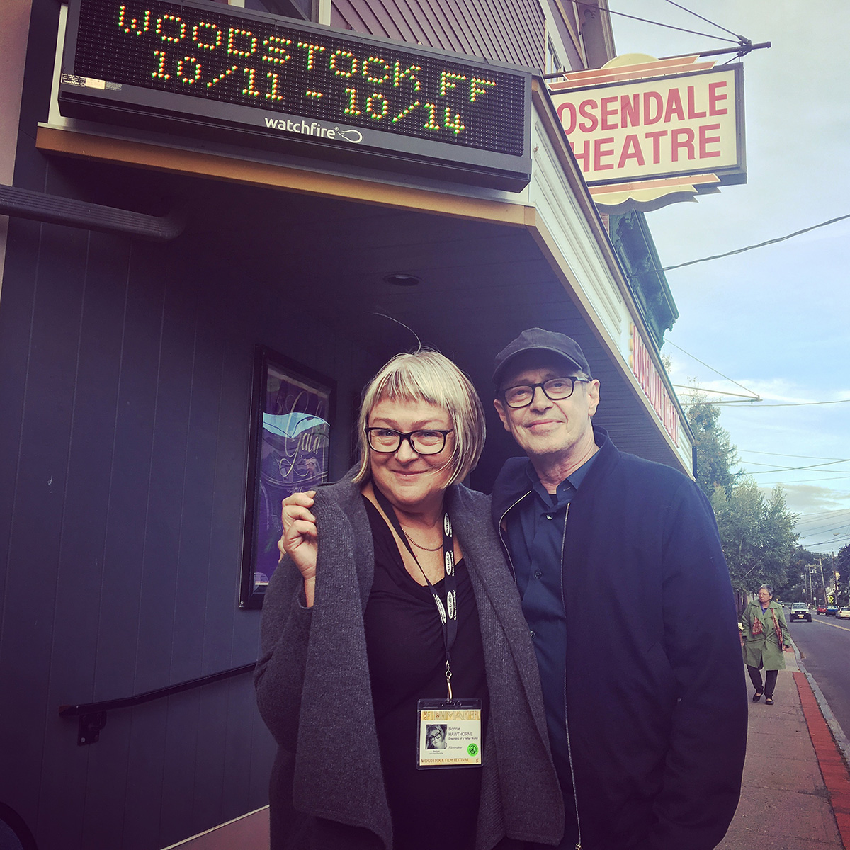 Director Bonnie Hawthorne and Executive Producer Steve Buscemi at the Rosendale Theatre.