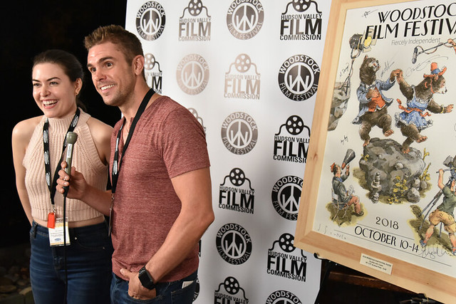 Cait Cortelyou and Josh Folan from Ask for Jane at the 2018 Woodstock Film Festival.