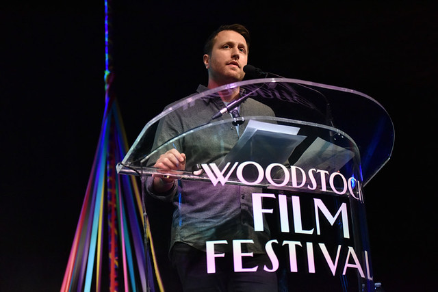 Matthew Heineman receives the Filmmaker Award of Distinction at 2018 Woodstock Film Festival. Photo by: John Mazlish