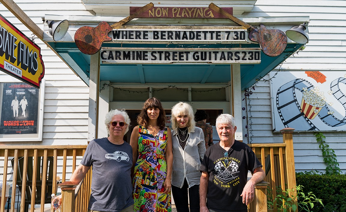 Director Ron Mann and special guests Rick Kelly, Cindy Hujel, and Eleanor Friedberger from CARMINE STREET GUITARS