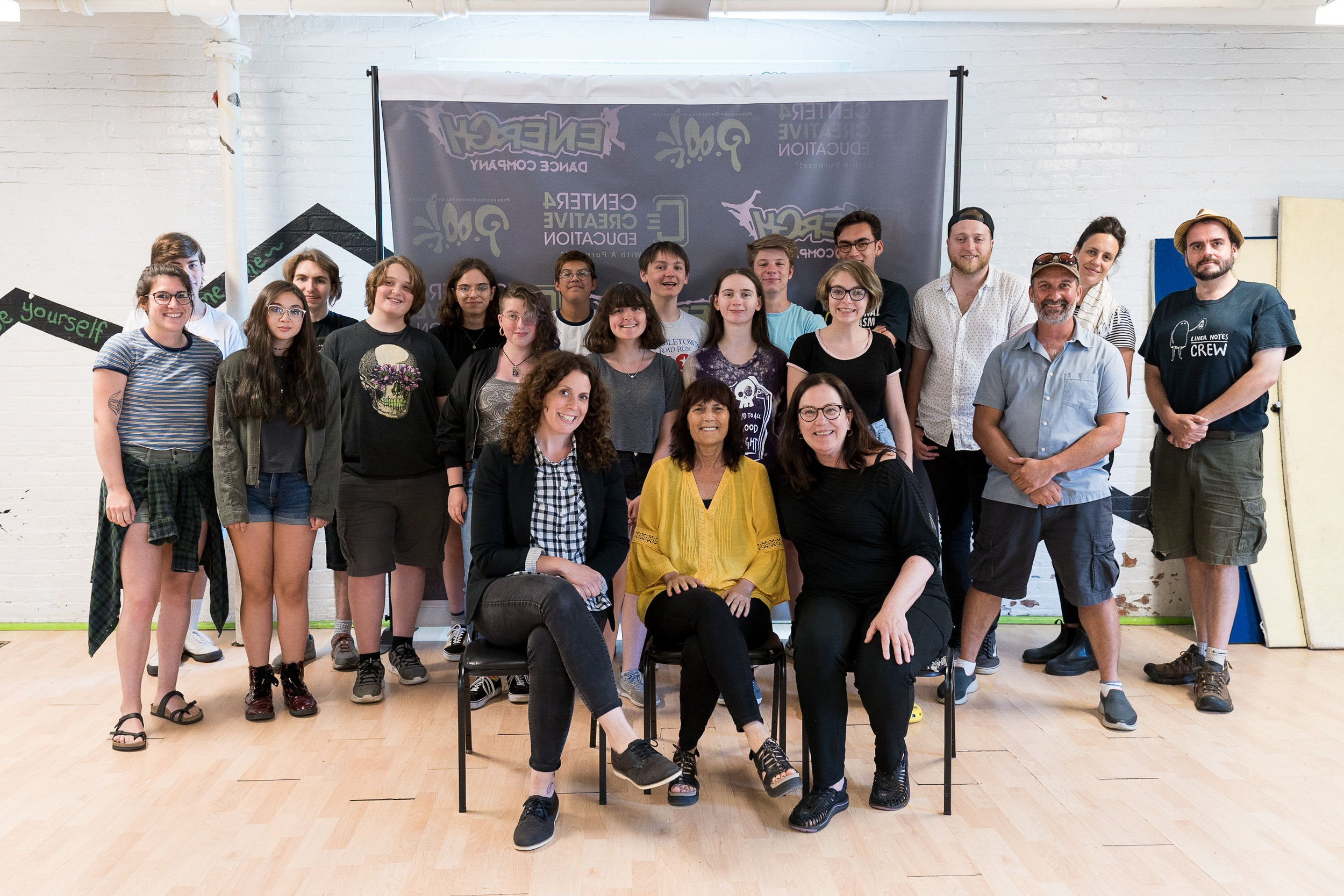 Woodstock Film Festival Co-Founder and Executive Director Meira Blaustein with Film Lab students and instructors