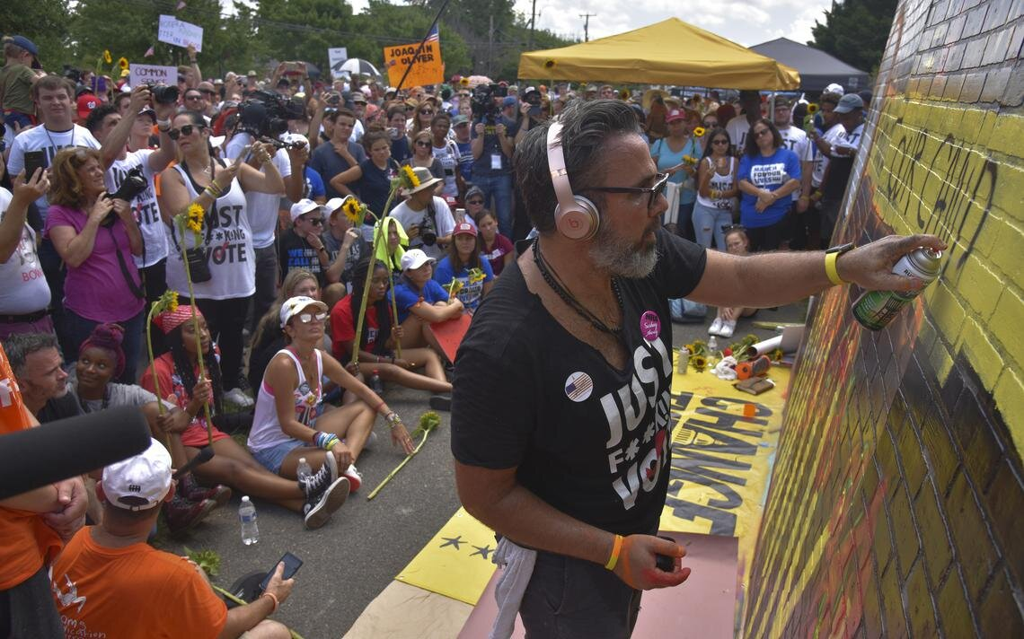 Manuel Oliver creates a mural in honor of his son, Joaquin Oliver, who was killed in a school shooting in Parkland, Florida.jpg