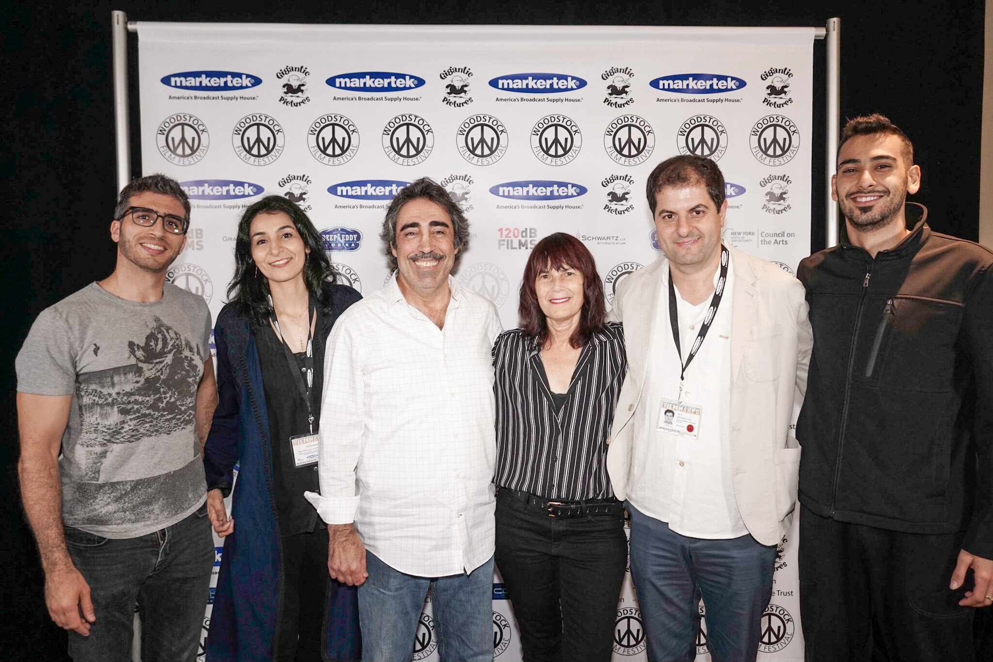 (From left) Tareq Rantisi, Simon Shaheen, Meira Blaustein, Tarik Benbrahim and Firas Zreik at the event