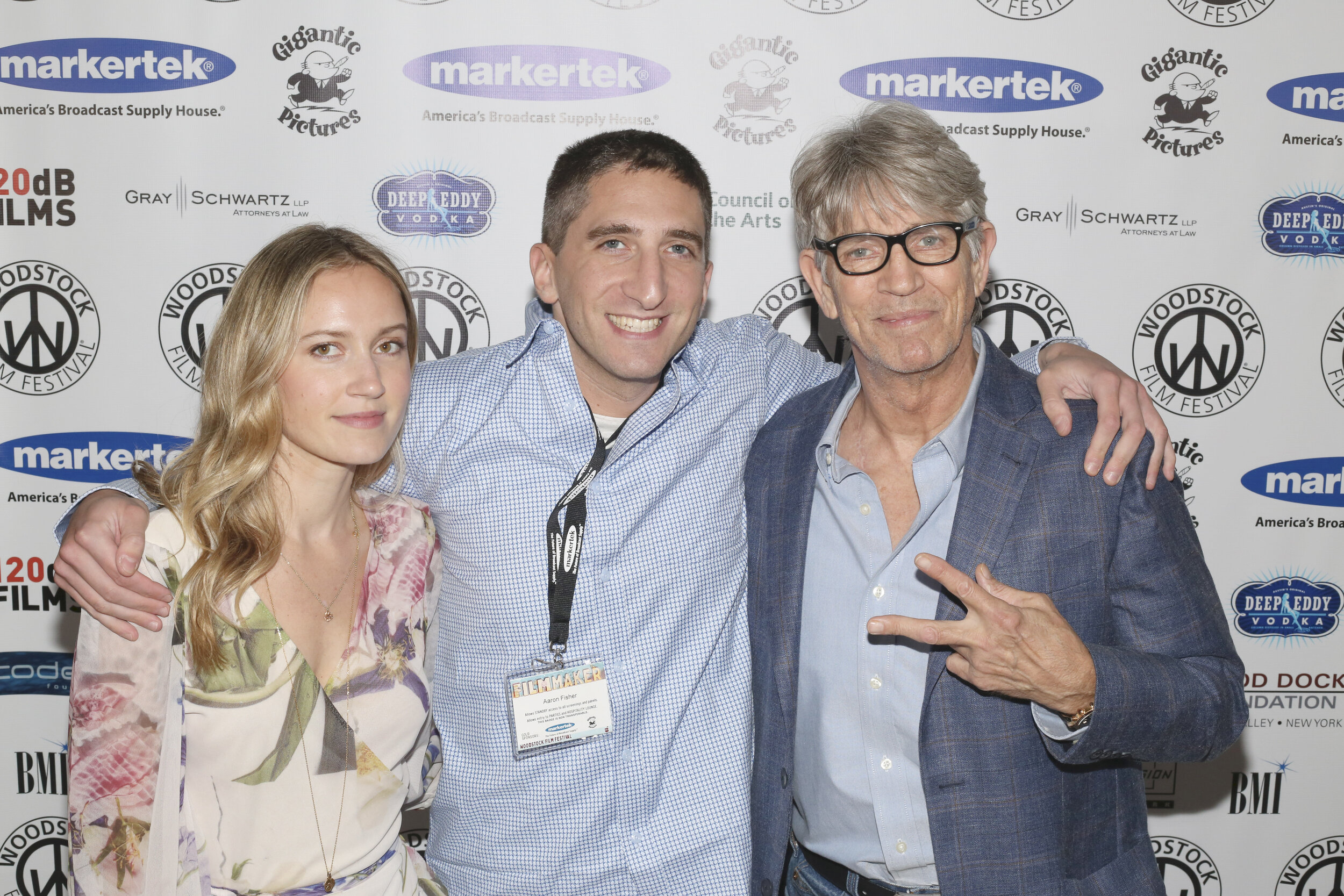 (From left) Ellen Toland, Aaron Fisher, and Eric Roberts at the premiere of  Inside The Rain.
