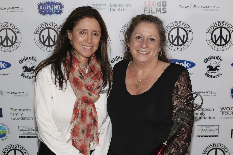 From left: 2018 Maverick Award winner Julie Taymor and 2019 Honorary Trailblazer recipient Abigail Disney