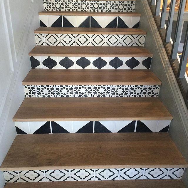 Nice #interiordesign #tile #blackandwhite #modern